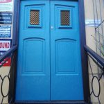 club entrance door