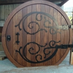 Hobbit solid wood door