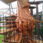 Yellowwood log staircase