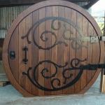 Hobbit solid wood door